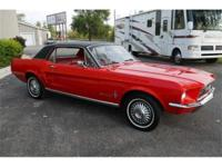 This 1967 Mustang hardtop is simply adorable. Recently