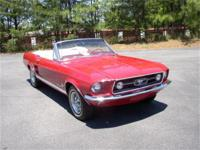 1967 Mustang GTA convertible, striking CandyApple Red