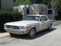 67 mustang, 6cyl auto, maunal steering drum brakes,