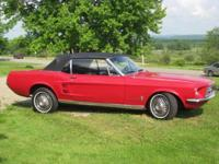 Ready to Drive 1967 Mustang Convertible Candy Apple Red