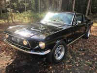 1967 MUSTANG FASTBACK  Yes its a real fastback,  Black
