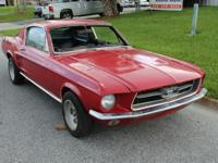 1967 Ford Mustang Fastback GT. Interior is in
