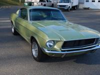 1967 FORD MUSTANG 2 PLUS 2 FASTBACK. LIME GOLD, 390