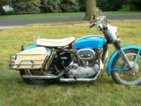 Unrestored 1967 Harley Davidson XLH.It is currently