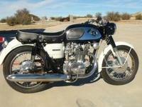 Honda CB450 Black Bomber. This bike was torn down to