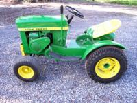 1967 John Deere 110RF Garden Tractor for sale. This