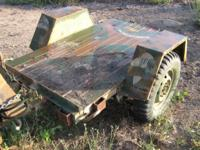 M762 Military Trailer: (Jeep Kind) the dimension of the