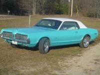 1967 Mercury Cougar- XR7 64,000 miles, C4 auto trans,