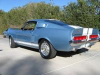 1967 Blue Mustang Fastback Shelby Recreation Vin