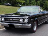 1967 Plymouth GTX CONVERTIBLE B-E-A-Utiful Triple Black