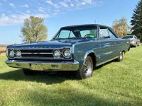 1967 Plymouth GTX original J Code Hemi car with an