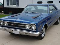 1967 Plymouth GTX has many performance parts that have