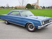 1967 Plymouth GTX 440 two door hardtop. This example