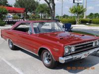 Very original 67 Hemi GTX equipped with numbers