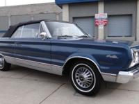 1967 Plymouth Satellite Convertible. Blue with black