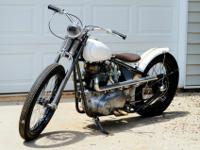 1967 Triumph Bonneville motor on a custom Factory Metal
