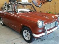1967 Triumph Herald Sports Convertible In good shape