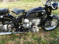 BMW R50/2. I have recently serviced this bike. It runs