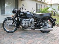 .........1968 BMW R50/2 with sidecar. This /2 has a