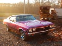 1968 Chevelle SS 2 door coupe 5 passenger car. Vin #