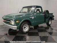 Its very rare to see a 1968 Chevy pickup truck with a