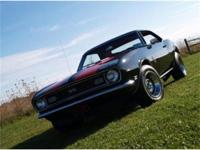 1968 Chevrolet Camaro SS for sale. Beautiful black with