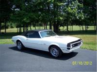1968 CAMARO . . CONVERTIBLE. . . . . WHITE PAINT ON A
