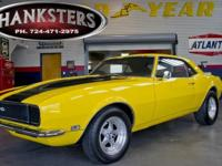 Stock # 68CAM5344 Yellow 1968 Chevrolet Camaro RS SS