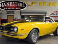 Stock # 68CAM0004 Yellow 1968 Chevrolet Camaro Z28