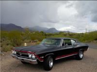 1968 Chevelle SS396 - Not a Clone! Black on Black,