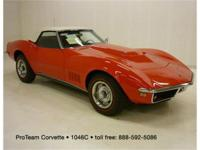 1968 Corvette Convertible, 427-400 hp, 4 speed, numbers