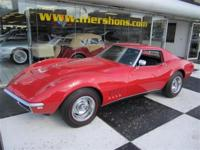 1968 Corvette Coupe Original 974 Code Rally Red with