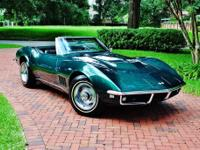 1968 Chevrolet Corvette Convertible. She is finished in