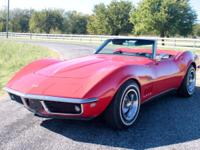 1968 Chevrolet Corvette Roadster Numbers Matching Red