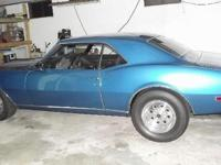 1968 CHEVROLET CAMARO, bahama blue, Black Leather