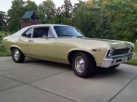 This 1968 Chevy Nova is a beautiful car in excellent