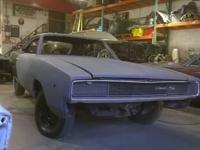 Real 1968 Dodge Charger R/T 440 4 Speed - XS29L8Bxxxxxx