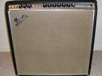 For sale is this Fender Super Reverb. One speaker was