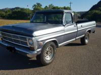 1968 Ford 250 in great condition. The engine is clean