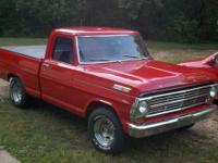 1968 f100, shortbed, 351W 4bbl, v8, 3 speed automatic,