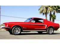 1968 FORD MUSTANG FASTBACK 302 V8 AUTO TRANS, P/S,