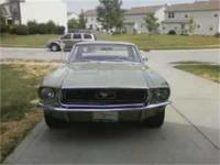 1968 Ford Mustang 2-door coupe, 351 8 cylinder engine,