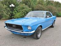 Ready to enjoy is this stunning 1968 Ford Mustang Coupe