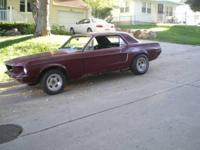1968 Mustang Coupe 289 cu. in. 95000 original miles new