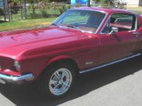1968 Ford Mustang Fastback, very nice maroon paint on