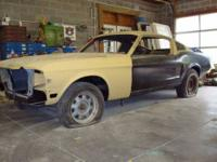 1968 Ford Mustang Fastback S Code restoration project