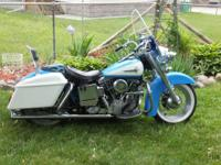 1968 Harley Davidson FLH, Garage Kept, Chrome Wheels,