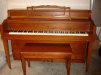 Beautiful 1968 Cable Italian Provincial Walnut Piano