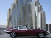 This 1968 Jaguar XKE 2 +2 Coupe showcases a 4.2 L