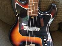 1968 Kay K-1B Bass in fantastic shape. Brief scale